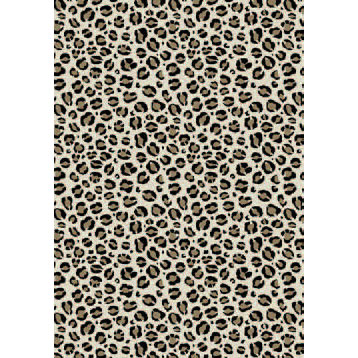 Orian Rugs Carolina Fleece 5 x 7 Snow Leopard Multi 21566-3