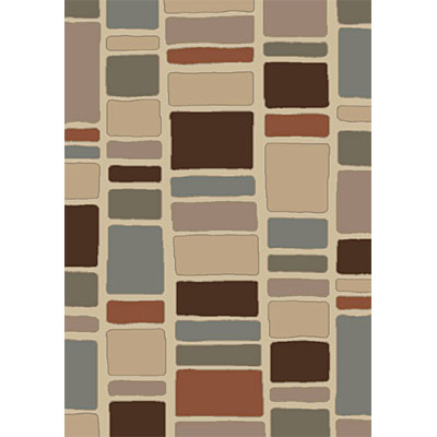 Orian Rugs Fezzan 5 x 7 Stoneside White Chocolate 21234-1