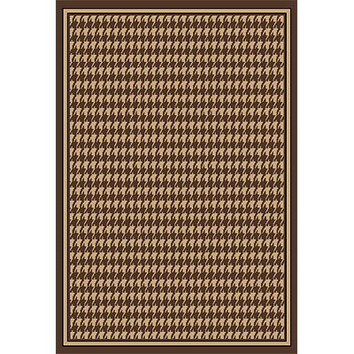Orian Rugs Fiero 2 x 6 Houndstooth Brown