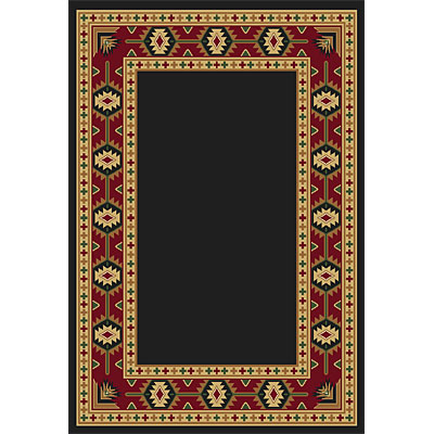 Orian Rugs Fiero 2 x 6 Lodge Border Black