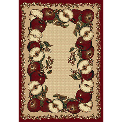 Orian Rugs Firenze 3 x 4 Apple Box Rouge