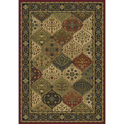 Orian Rugs Magic 3 x 4 Cathedral Merlot 20186-4