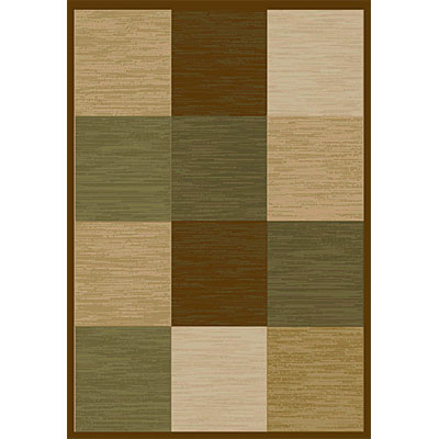 Orian Rugs Magic 2 x 6 Geo Brown 18578-2