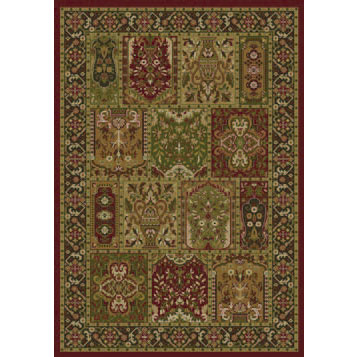 Orian Rugs Magic 5 x 7 Mogana Spanish Red