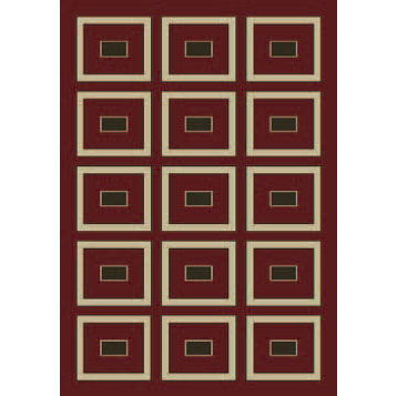 Orian Rugs Magic 5 x 7 Muse Spanish Red 22133-6