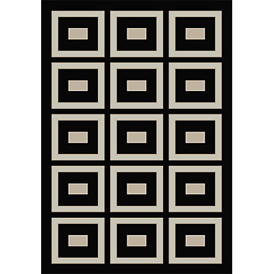 Orian Rugs Magic 5 x 7 Muse Black 19752-5