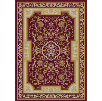 Orian Rugs Magic 5 x 7 Provence Burgundy 21641-7