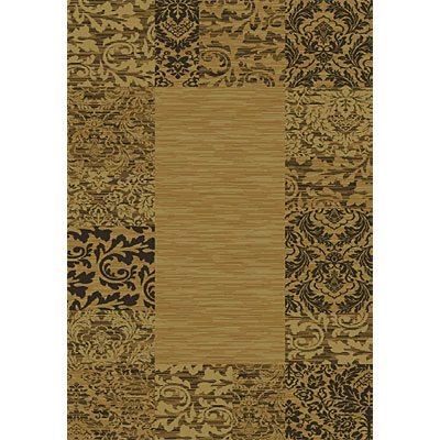 Orian Rugs Mystic 4 x 5 Damas Border Chocolate