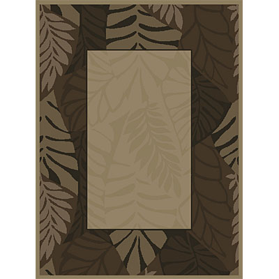 Orian Rugs Patio Cancun Fern Border Nutty