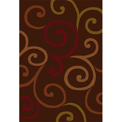 Orian Rugs Shagadelic 2 x 7 runner Swirls Brown 21497-0