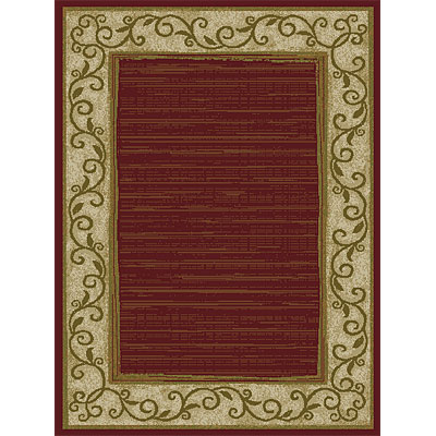 Orian Rugs Weave So Soft 2 x 3 Rush Border Spanish Red 21198-6