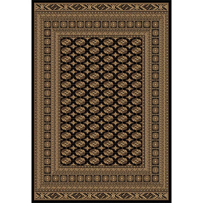 Rug One Imports Crown Jewel - Bokarah 8 x 11 Black 1531-0108