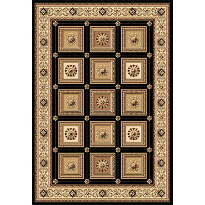 Rug One Imports Crown Jewel - Taj Mahal 5 x 8 Black 1666-0108