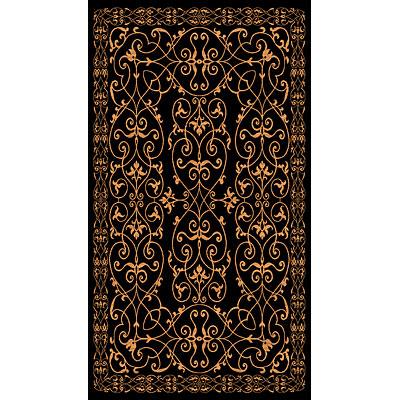 Rug One Imports Matrix 8 x 11 Black