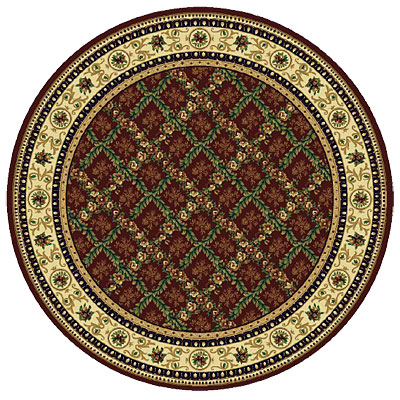 Rug One Imports Royal Bouquet 8 Round Claret 42022