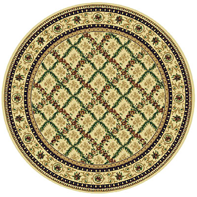Rug One Imports Royal Bouquet 8 Round Cream 42022