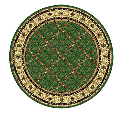 Rug One Imports Royal Bouquet 8 Round Khaki 42022