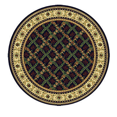 Rug One Imports Royal Bouquet 8 Round Midnight 42022