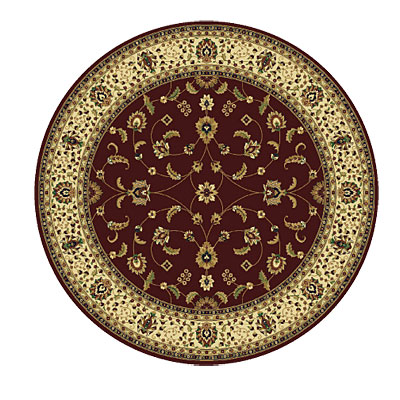 Rug One Imports Royal Tradition 8 Round Claret 42023