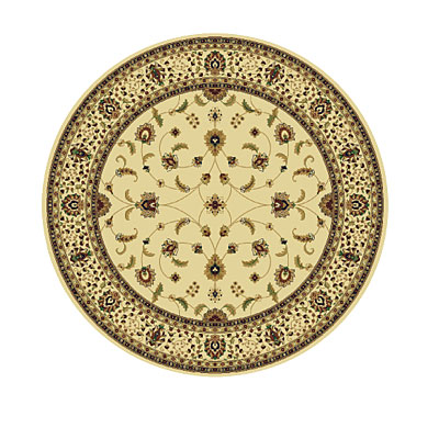 Rug One Imports Royal Tradition 8 Round Cream 42023