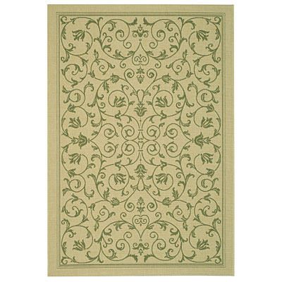 Safavieh Courtyard 7 x 10 Natural/Olive CY2098-1E01-6