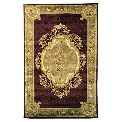 Safavieh Empire 8 Round Dark Red/Dark Beige EM414A-8R