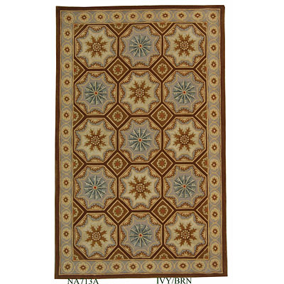 Safavieh Naples 6 Round Ivory/Brown NA513A-6R