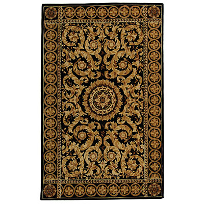 Safavieh Naples 6 Round Black/Gold NA514B-6R