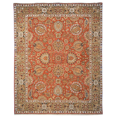 Safavieh Old World 6 Round Copper/Green OW117A-6R