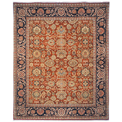 Safavieh Old World 4 x 6 Salmon/Navy OW120A-4