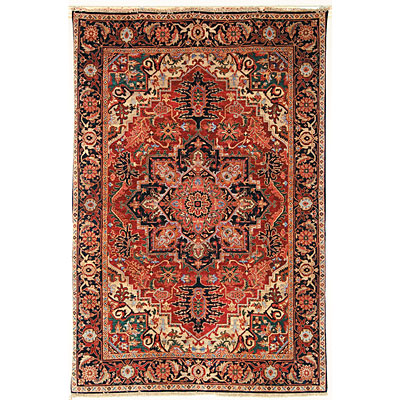 Safavieh Old World 6 Round Red/Navy OW126A-6R