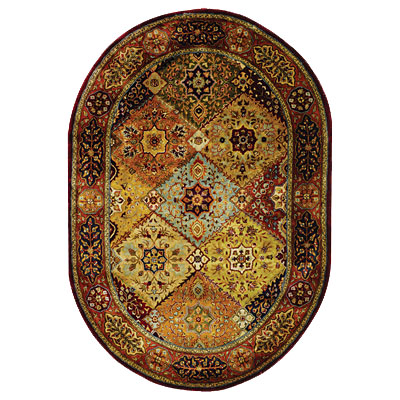 Safavieh Persian Legend Oval 5 x 7 Red/Rust PL512A-5OV
