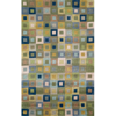 Trans-Ocean Import Co. Amalfi 2 x 8 Runner Square In Square Ocean 1966/04