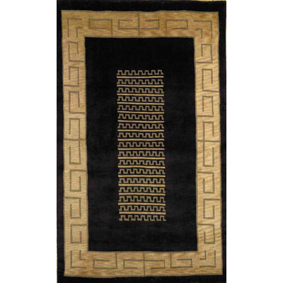 Trans-Ocean Import Co. Bhutan 8 x 11 Key Border Black 8581/48