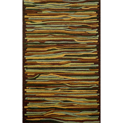 Trans-Ocean Import Co. Gallia 5 x 8 Stripes Driftwood 3082/19