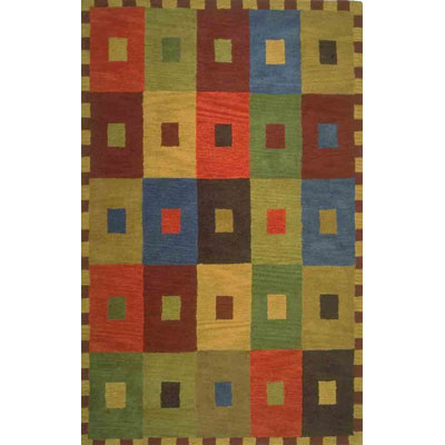 Trans-Ocean Import Co. Inca 8 x 10 Squares Multi 9440/44