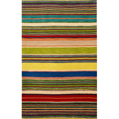 Trans-Ocean Import Co. Inca 5 x 8 Stripes Red /Multi 9441/24