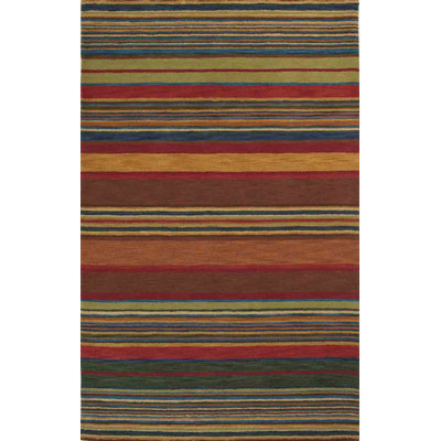 Trans-Ocean Import Co. Inca 5 x 8 Stripes Multi 9441/44