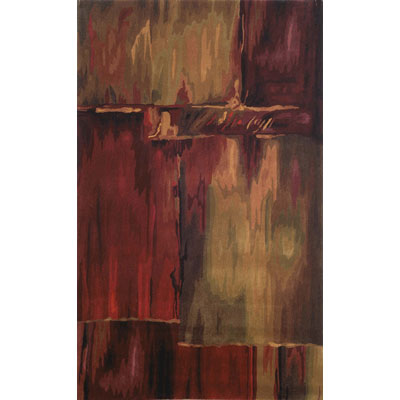 Trans-Ocean Import Co. Inspirations 4 x 6 Brushstrokes Burgundy 6113/24