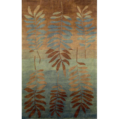 Trans-Ocean Import Co. Karela 2 x 8 Runner Fern Aqua 7110/04