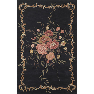 Trans-Ocean Import Co. Kyoto 8 x 10 Aubusson Black 750148