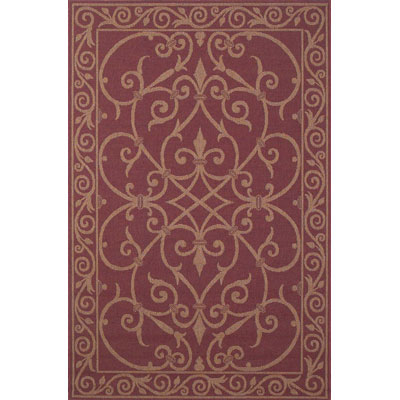 Trans-Ocean Import Co. Patio 8 x 8 Square Wrought Iron Red 1530/24