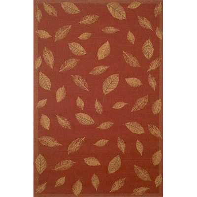 Trans-Ocean Import Co. Patio 3 x 5 Leaves Red 1571/24