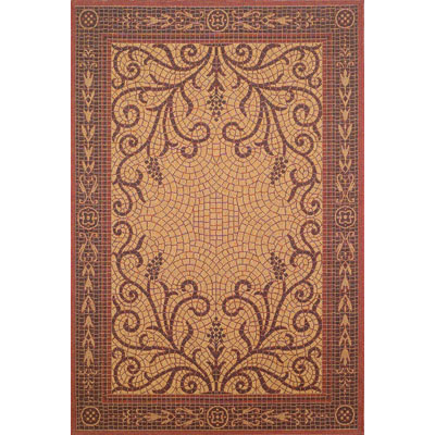 Trans-Ocean Import Co. Patio 8 x 11 Mosaic Red 1581/24