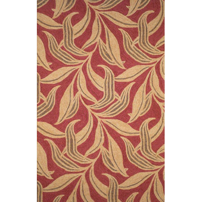 Trans-Ocean Import Co. Ravella 5 x 8 Leaf Red 1902/24