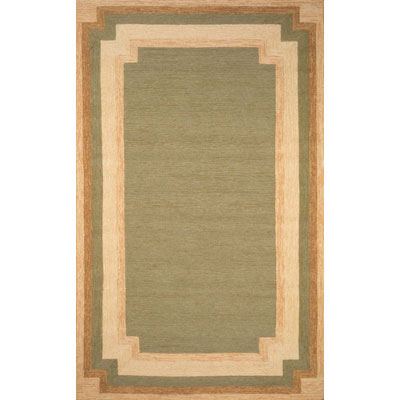 Trans-Ocean Import Co. Ravella 5 x 8 Border Green 1905/06