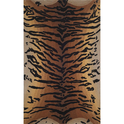 Trans-Ocean Import Co. Safari 5 x 8 Tiger Brown 2140/19