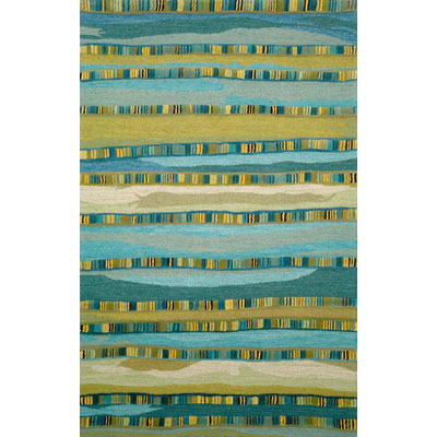 Trans-Ocean Import Co. Seville 5 x 8 Mosaic Stripe Blue 9625/03