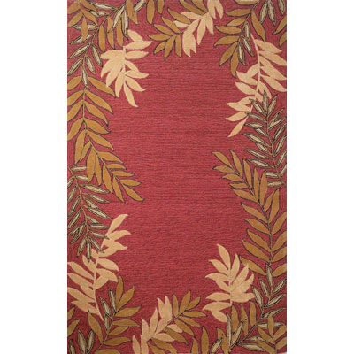 Trans-Ocean Import Co. Spello 2 x 8 Runner Fern Border Red 1918/24