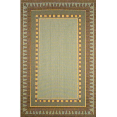 Trans-Ocean Import Co. Terrace 2 x 7 Runner Border Aqua 1716/03